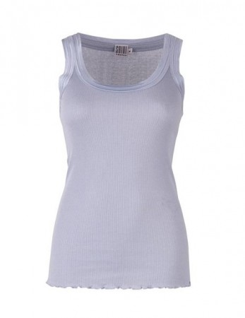Saint Tropez - Tanktop Ribs - Light blue