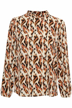Saint Tropez - Nora bluse - Blurred Animal