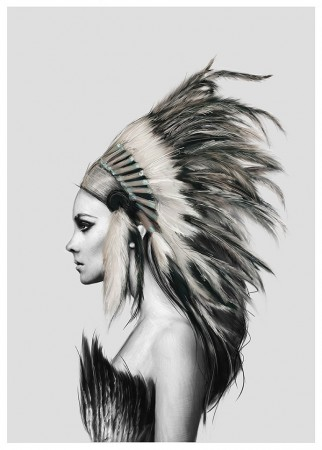 Linn Wold - Headdress 30x40