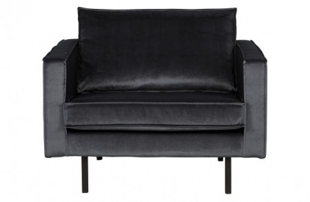 Be Pure Home - Rodeo loungestol velvet - Dark Grey