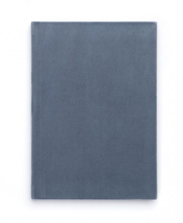Dark - Velvet Notatbok A5 - Dusty Blue