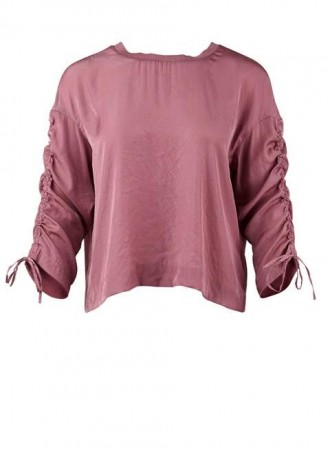 Saint Tropez- Blouse with gather - Dusty rose