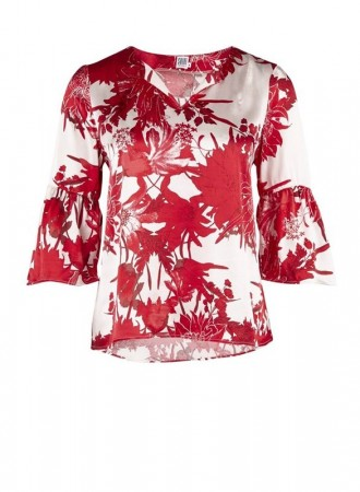 Saint Tropez - Big flower blouse - Rose