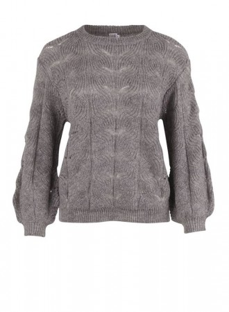 Saint Tropez - Knit blouse - Grey