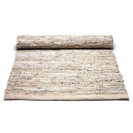 Rug Solid - Leather Rug 65x135 Beige