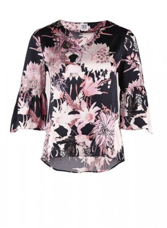 Saint Tropez - Big flower blouse - Navy
