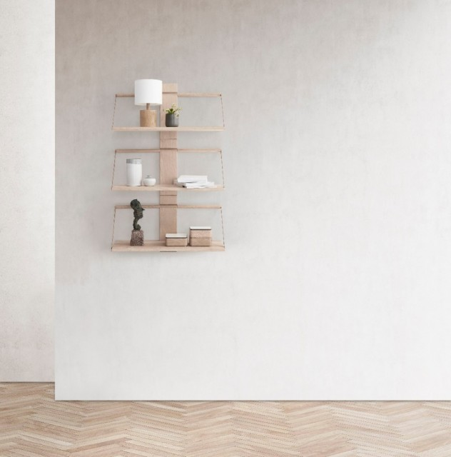 Andersen - Wood wall hylle Eik - Small