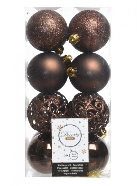 Julekuler - Dark Chocolate 16-pk 60 mm